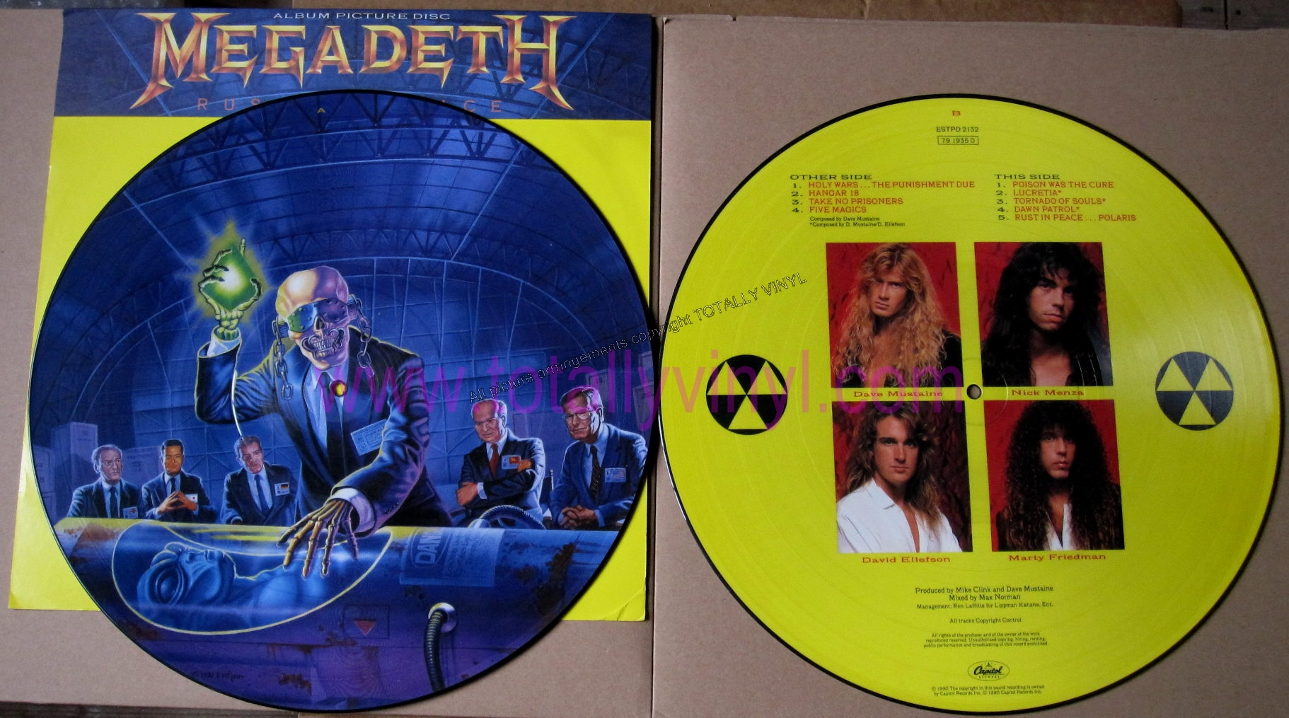 Totally Vinyl Records Megadeth Rust In Peace Lp