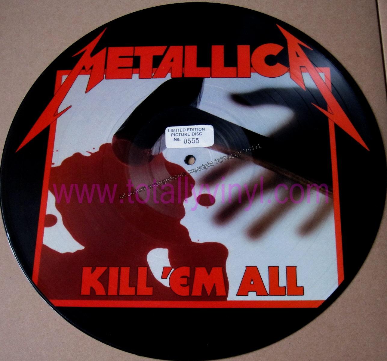 Totally Vinyl Records Metallica Kill Em All Lp