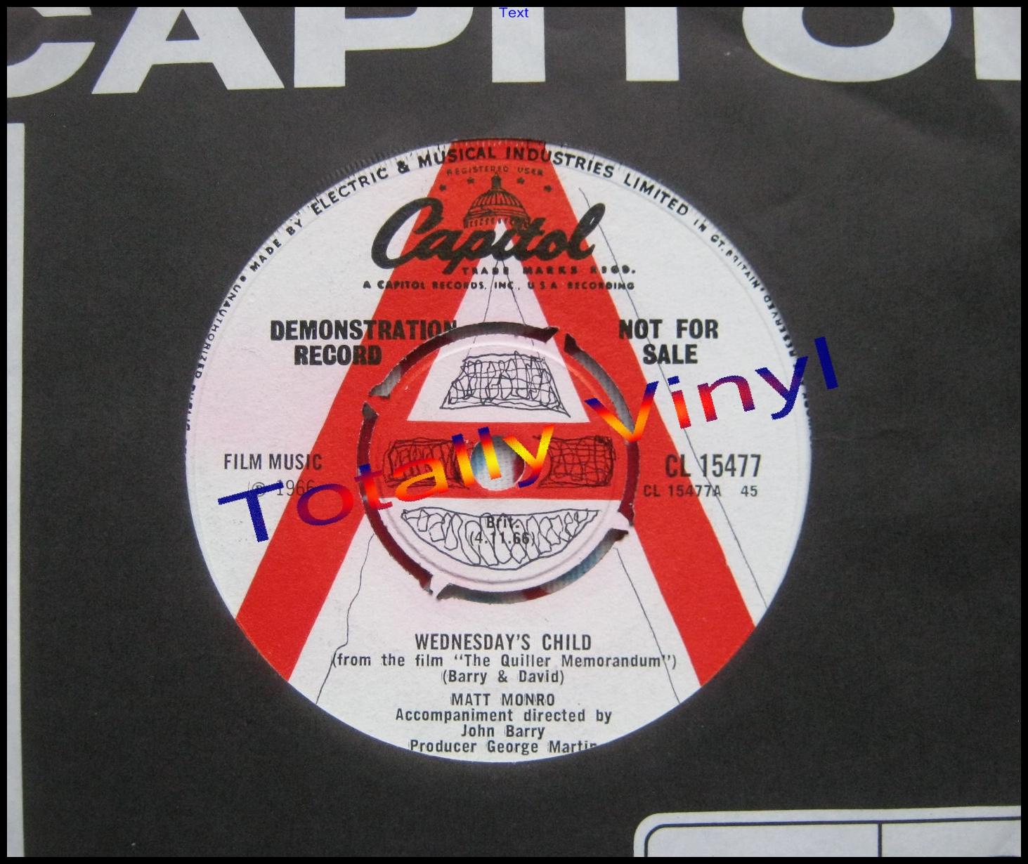 Totally Vinyl Records Monro With John Barry Matt