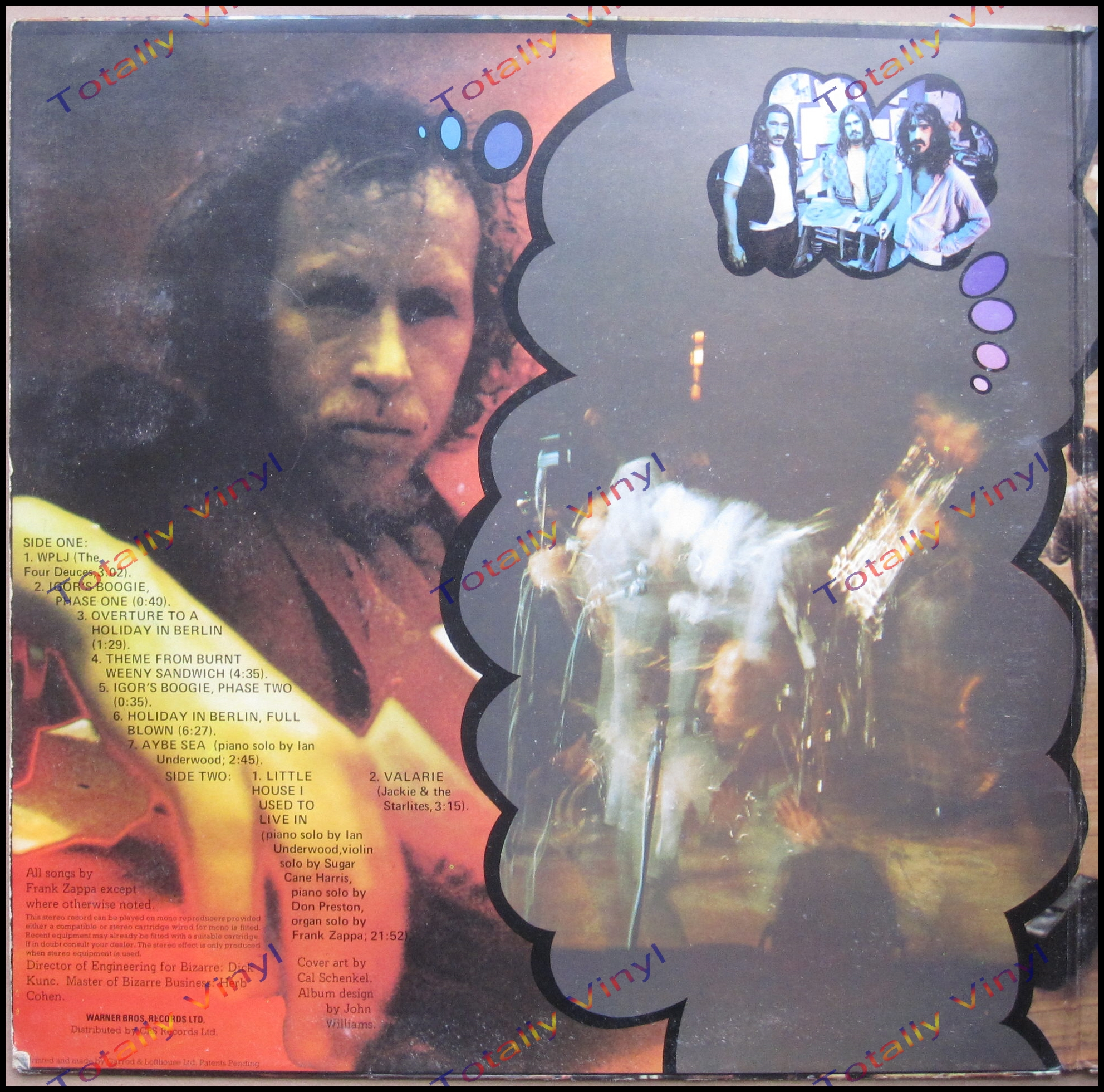 Totally Vinyl Records Mothers Of Invention The Burnt