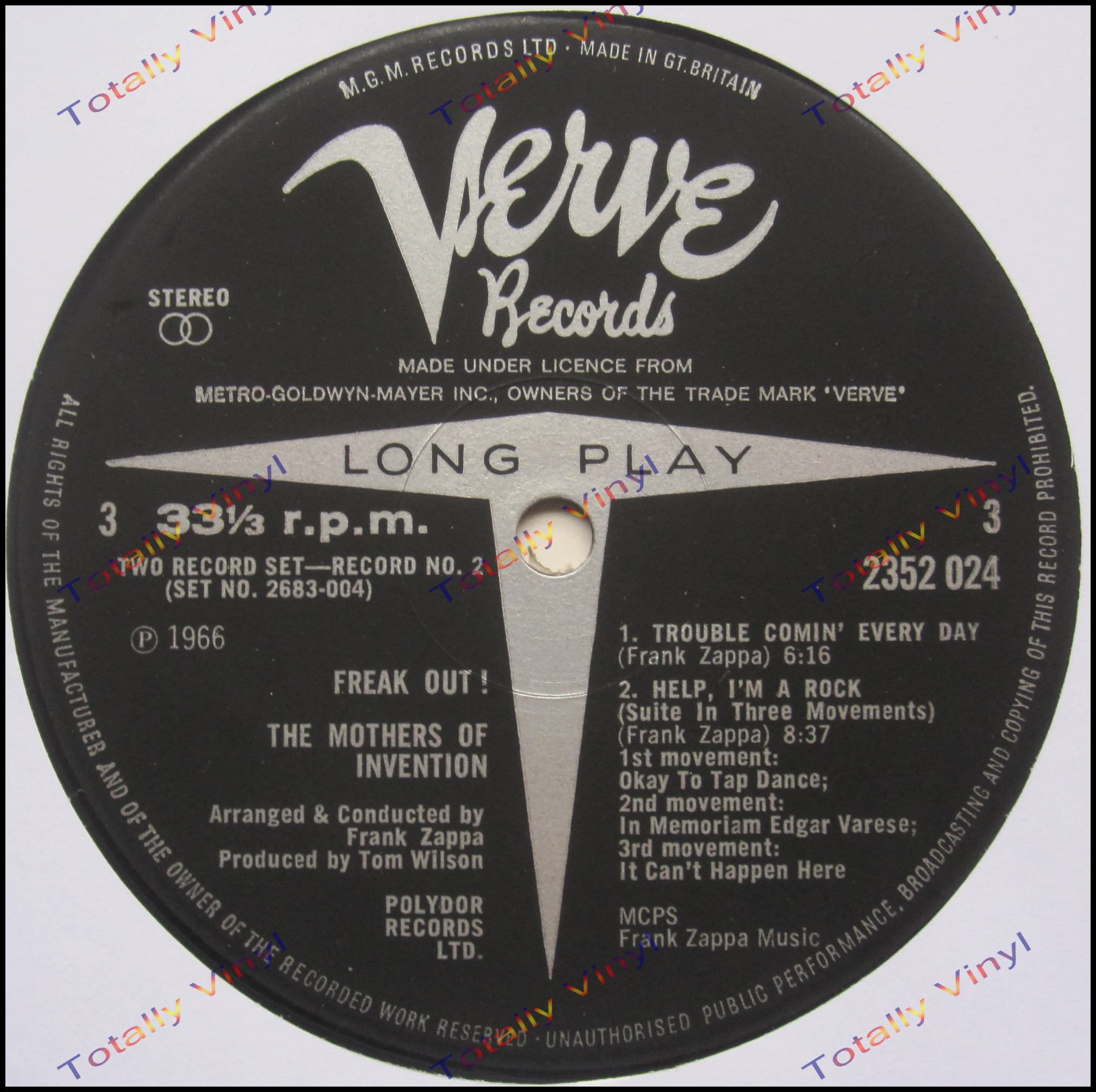 Totally Vinyl Records Mothers Of Invention The Freak