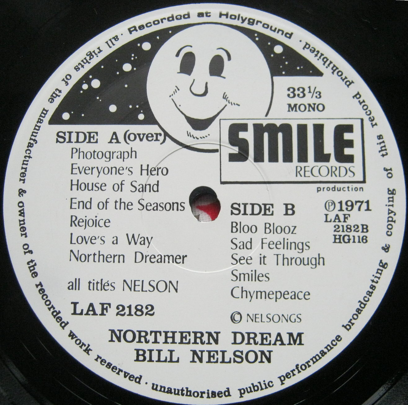 totally vinyl records nelson bill northern dream lp vinyl. Black Bedroom Furniture Sets. Home Design Ideas