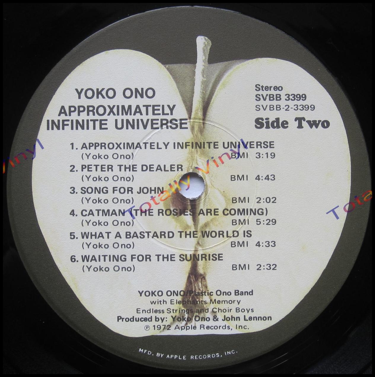 Totally Vinyl Records Ono Yoko Approximately Infinte