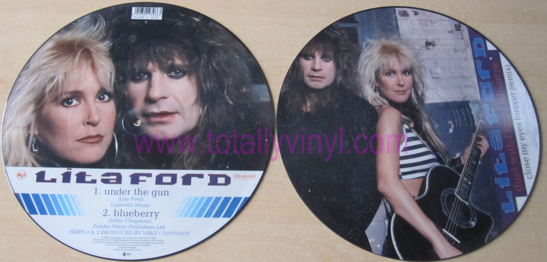 Totally Vinyl Records Osbourne And Lita Ford Ozzy