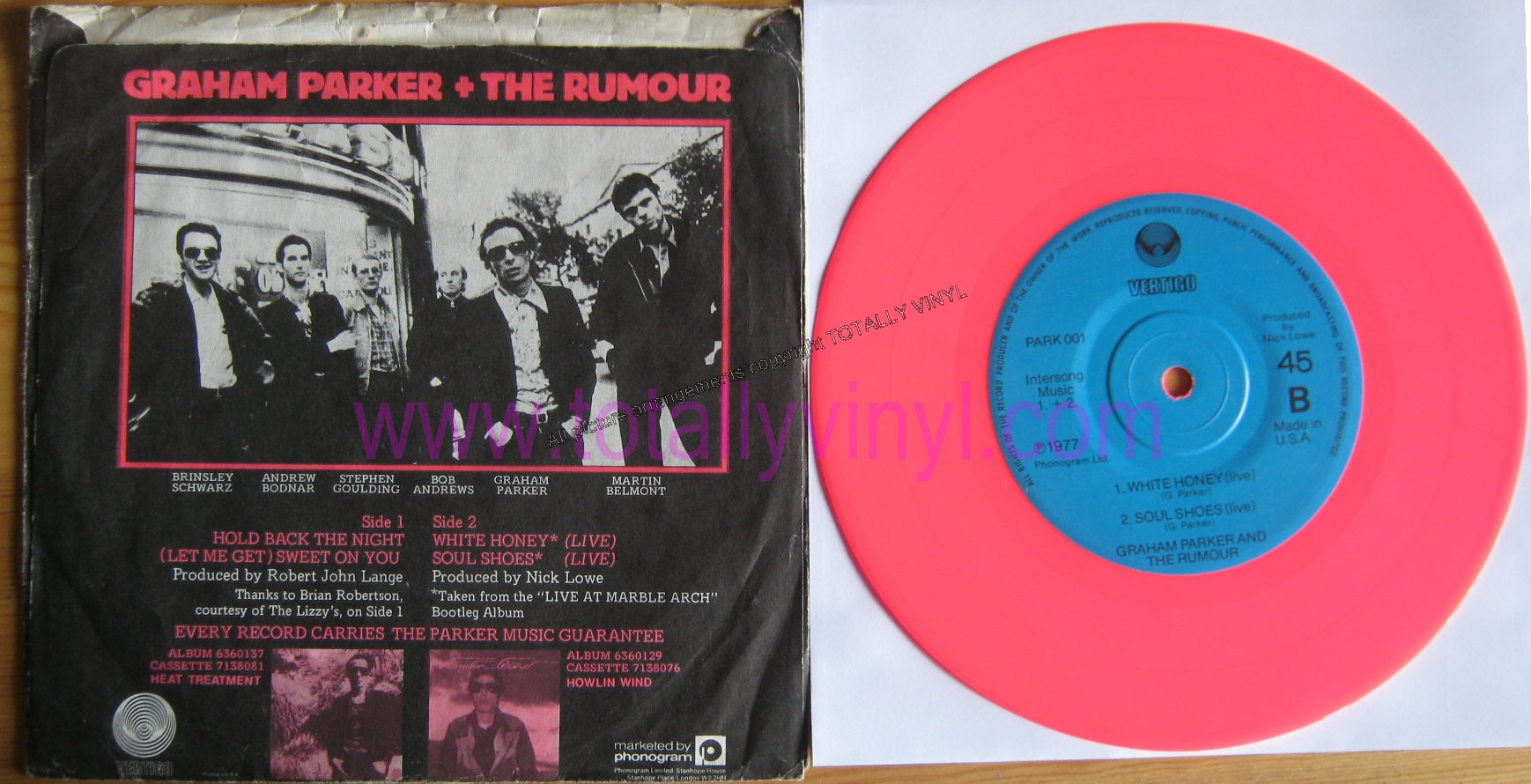 Totally Vinyl Records Parker And The Rumour Graham