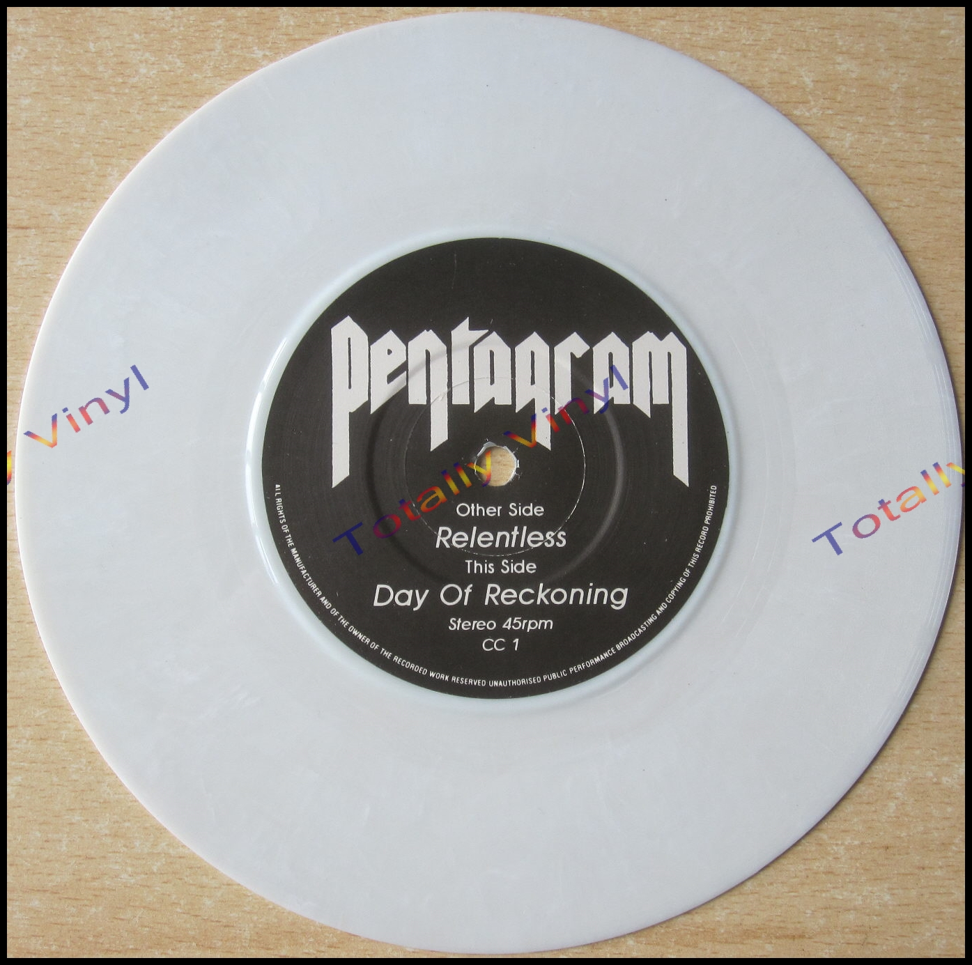 Totally Vinyl Records Pentagram Relentless Day Of