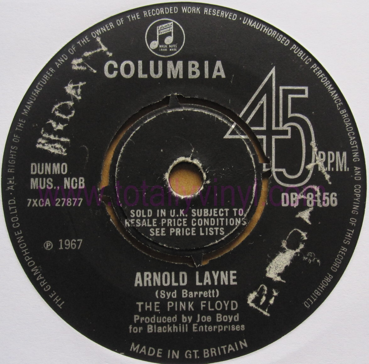 Totally Vinyl Records Pink Floyd The Arnold Layne 7 Inch