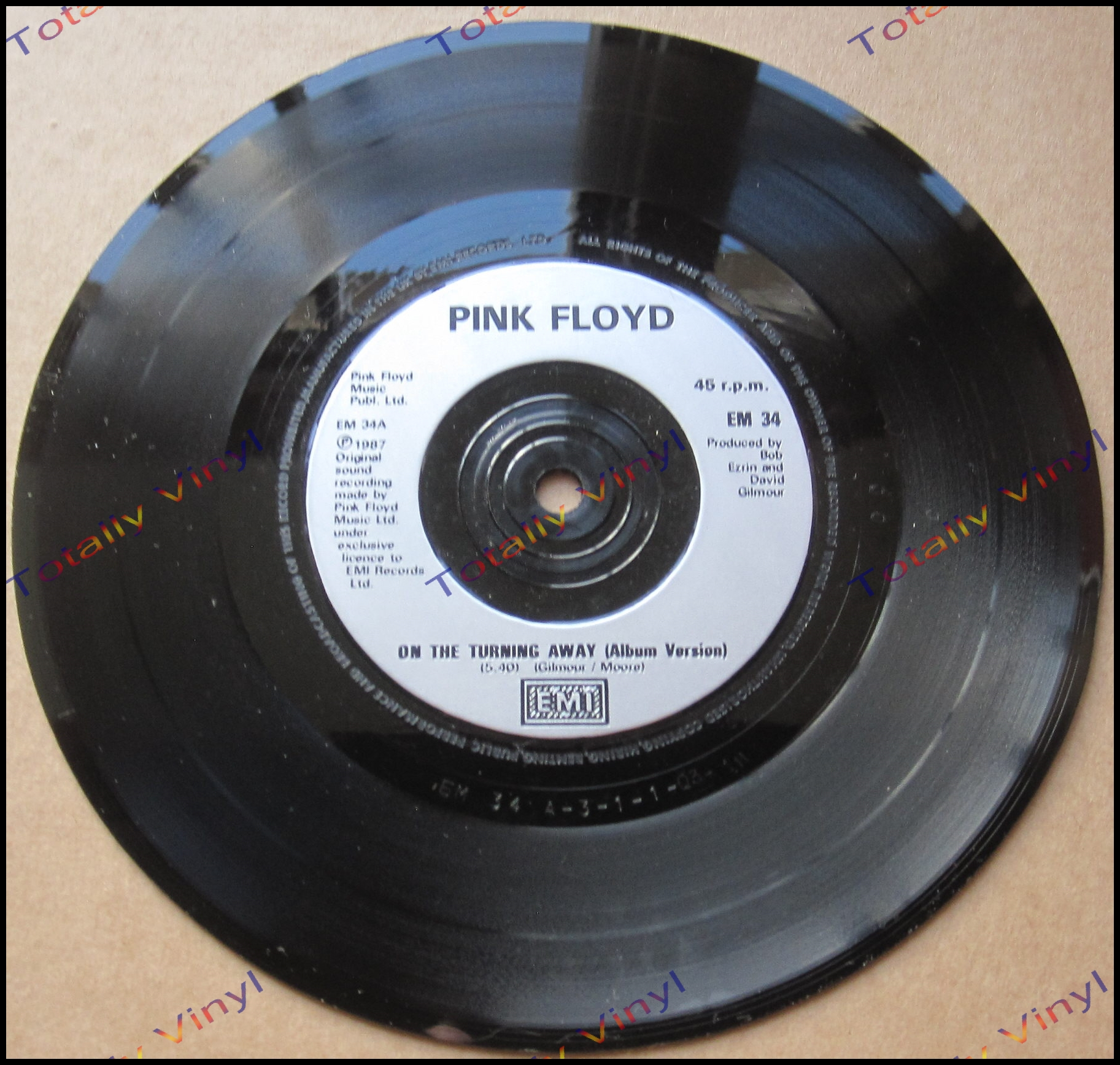 Totally Vinyl Records Pink Floyd On The Turning Away