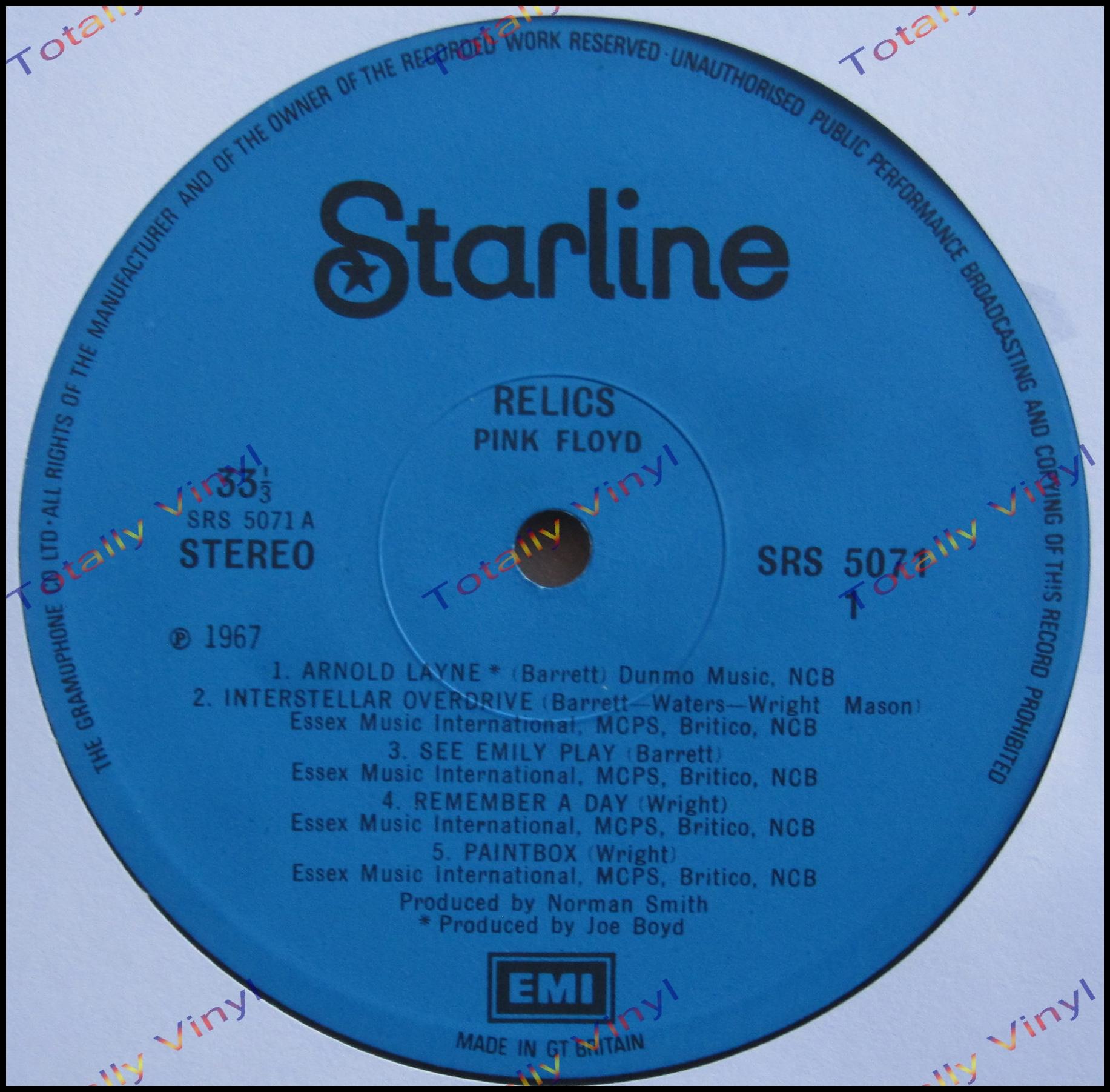 Totally Vinyl Records Pink Floyd Relics Lp