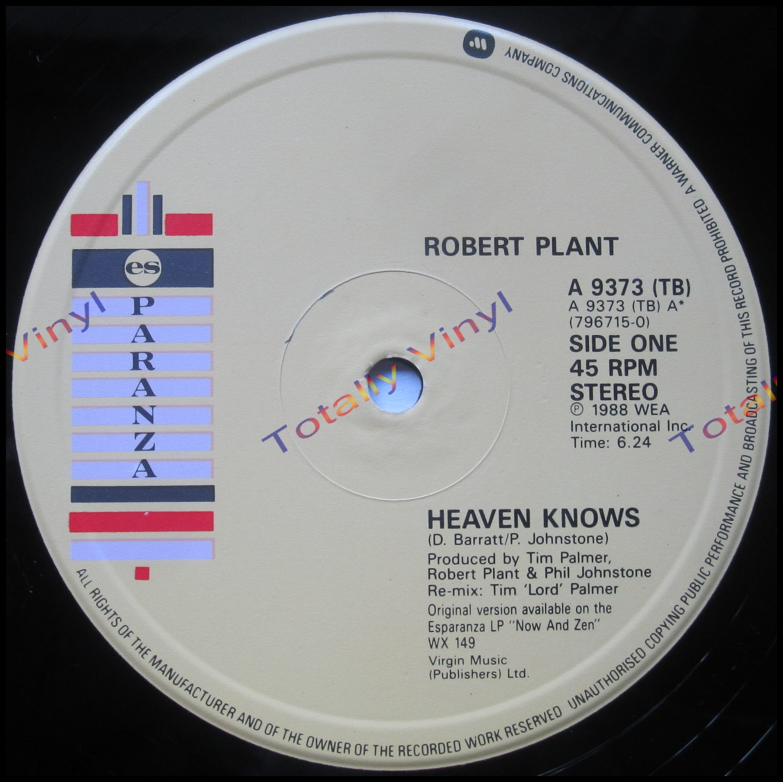 Totally Vinyl Records Plant Robert Heaven Knows 6
