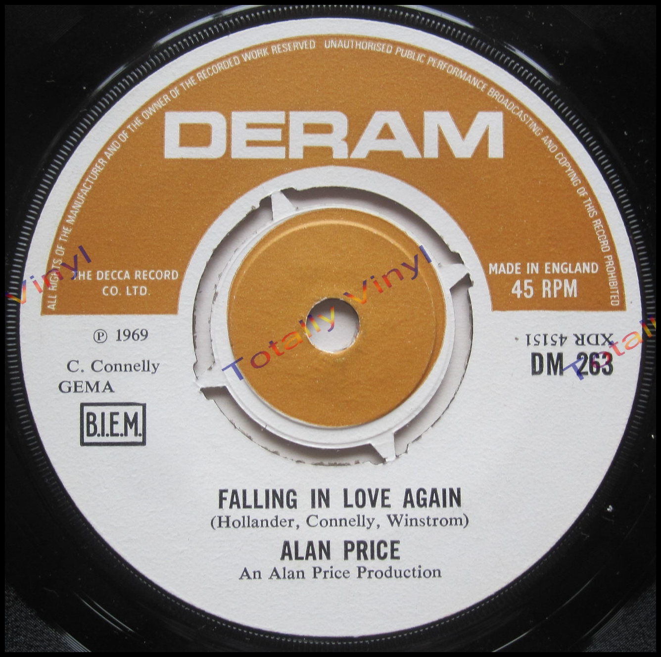 totally vinyl records price alan the trimdon grange explosion falling in love again 7 inch. Black Bedroom Furniture Sets. Home Design Ideas
