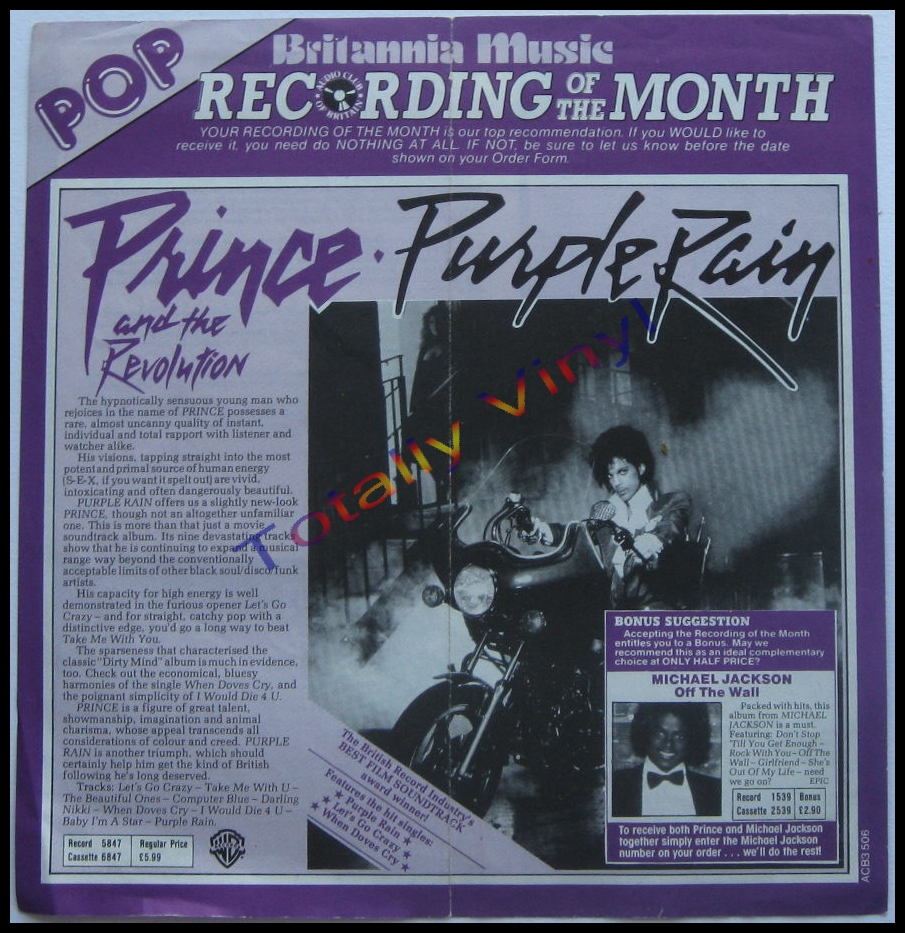 Totally Vinyl Records || Prince and the Revolution - Purple