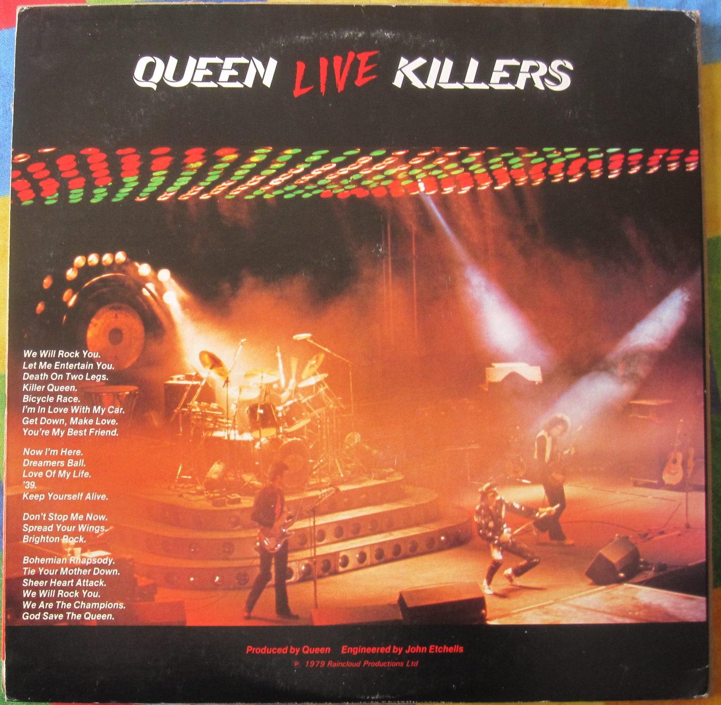 totally vinyl records queen live killers coloured vinyl lp. Black Bedroom Furniture Sets. Home Design Ideas