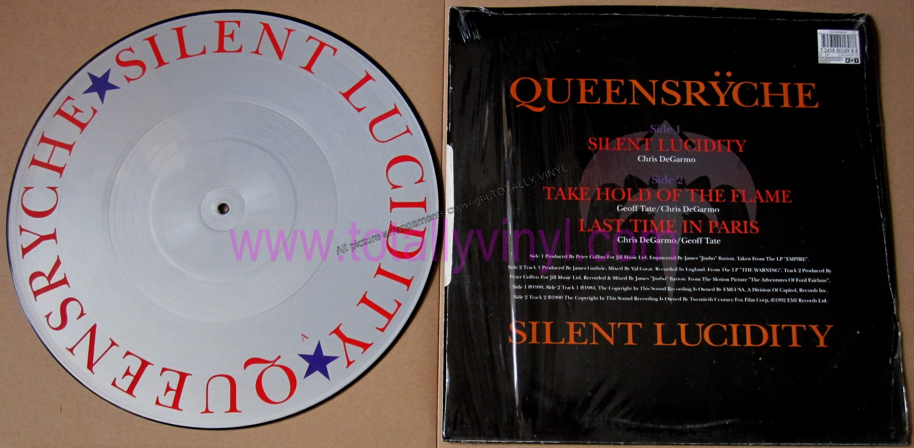 Totally Vinyl Records Queensryche Silent Lucidity 12