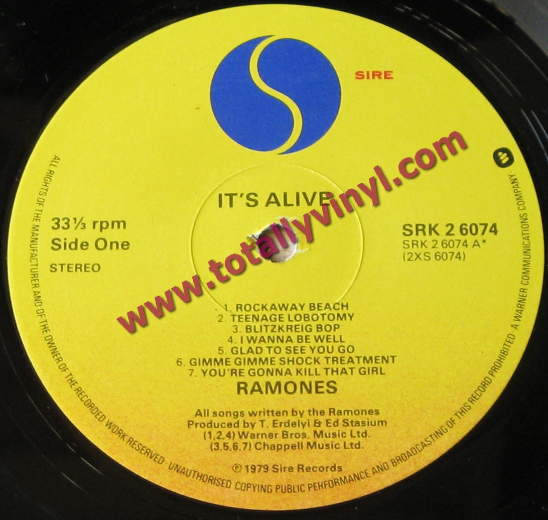 Totally Vinyl Records Ramones It S Alive Lp