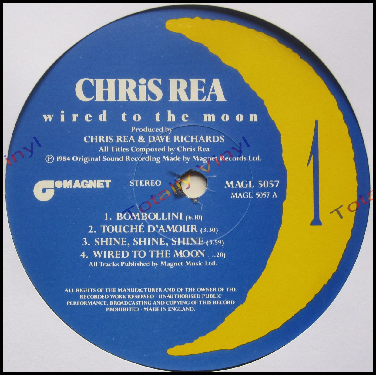 Totally Vinyl Records Rea Chris Wired To The Moon