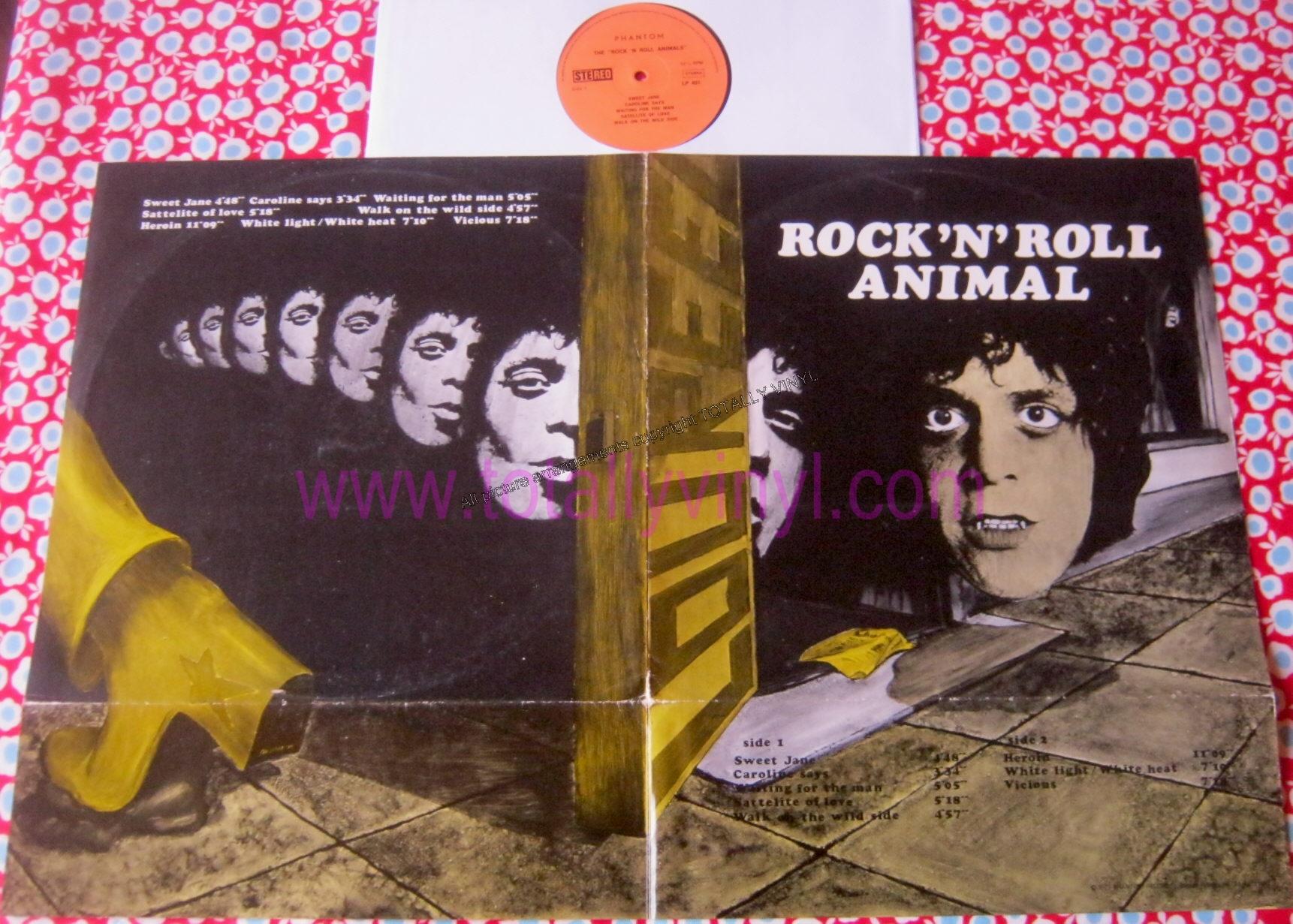 Totally Vinyl Records Reed Lou Rock N Roll Animal Lp