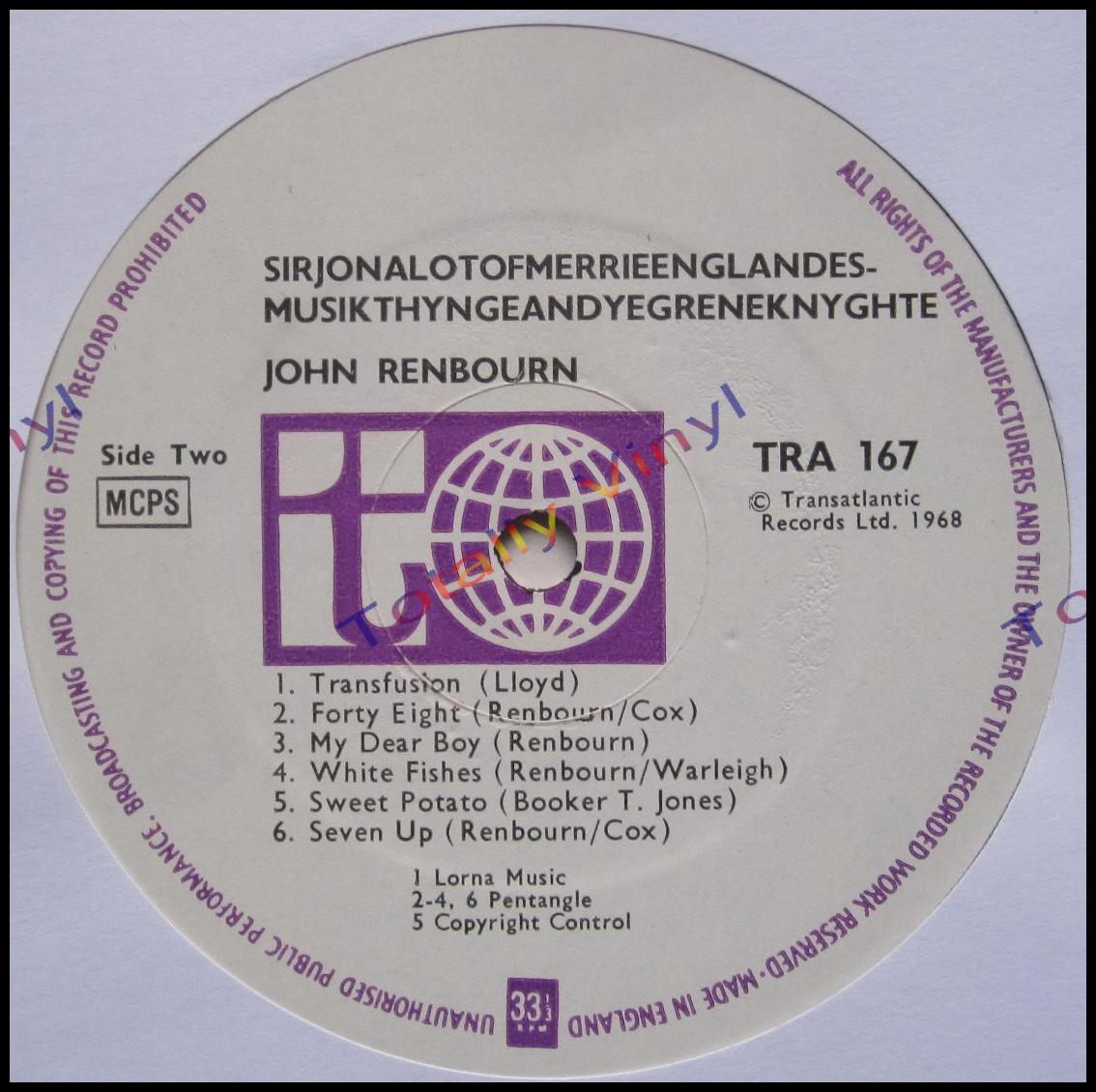 John Renbourn Sir John Alot...