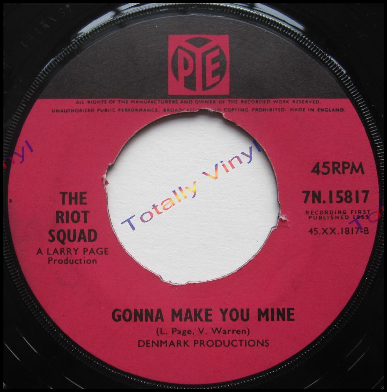 Totally Vinyl Records    Riot Squad, The - I wanna talk