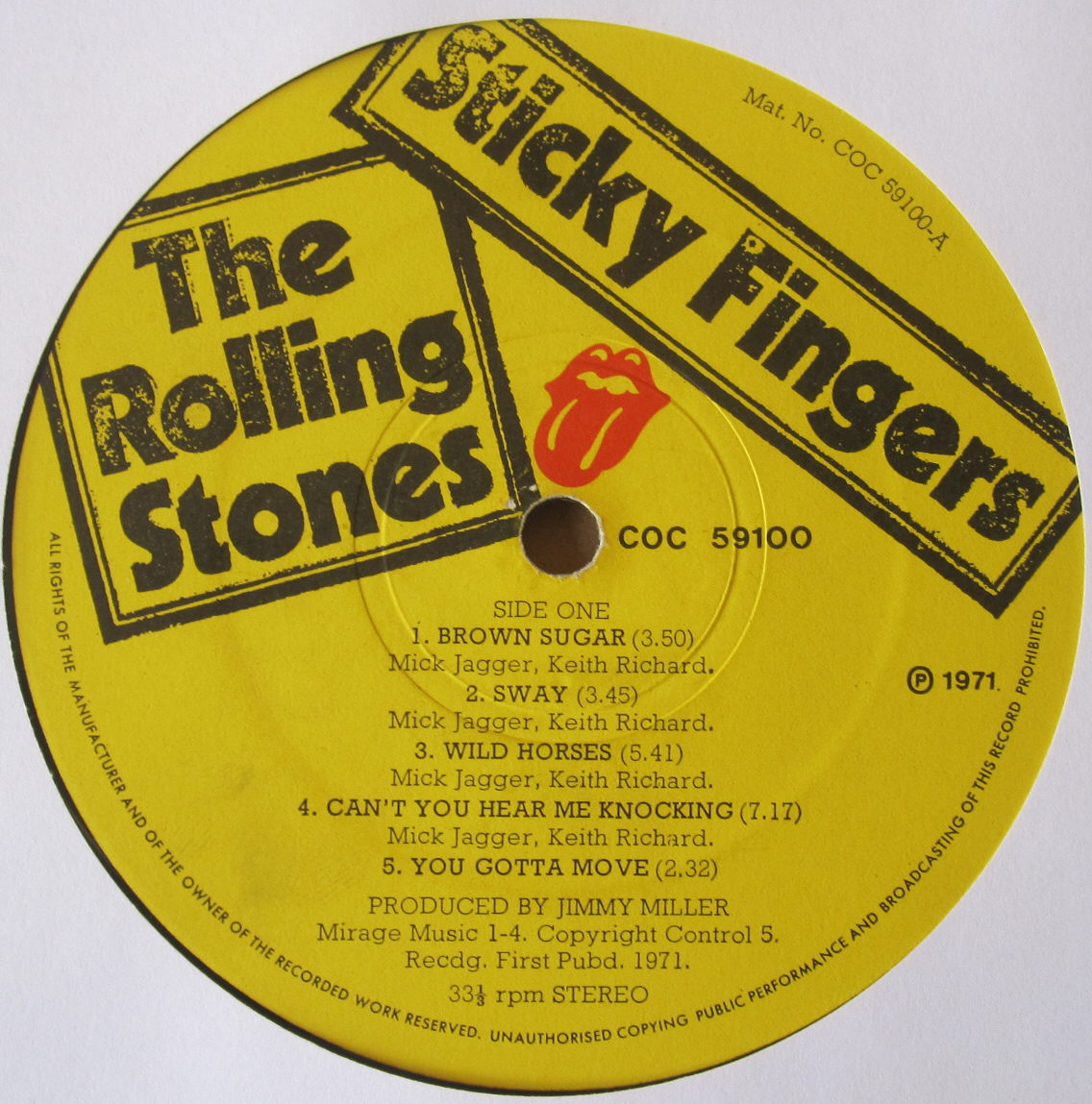 Totally Vinyl Records Rolling Stones The Sticky