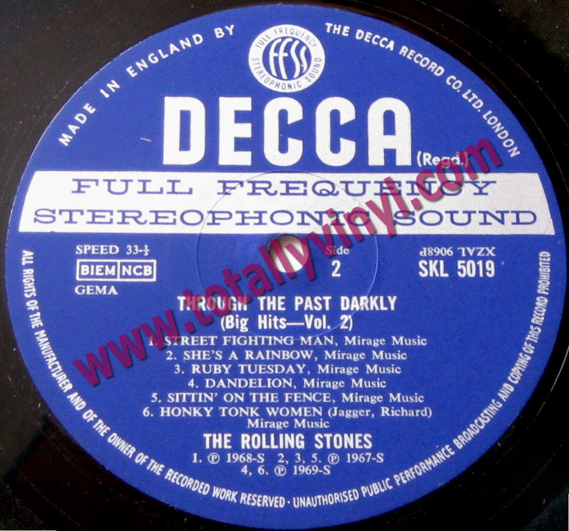 Totally Vinyl Records Rolling Stones The Through The