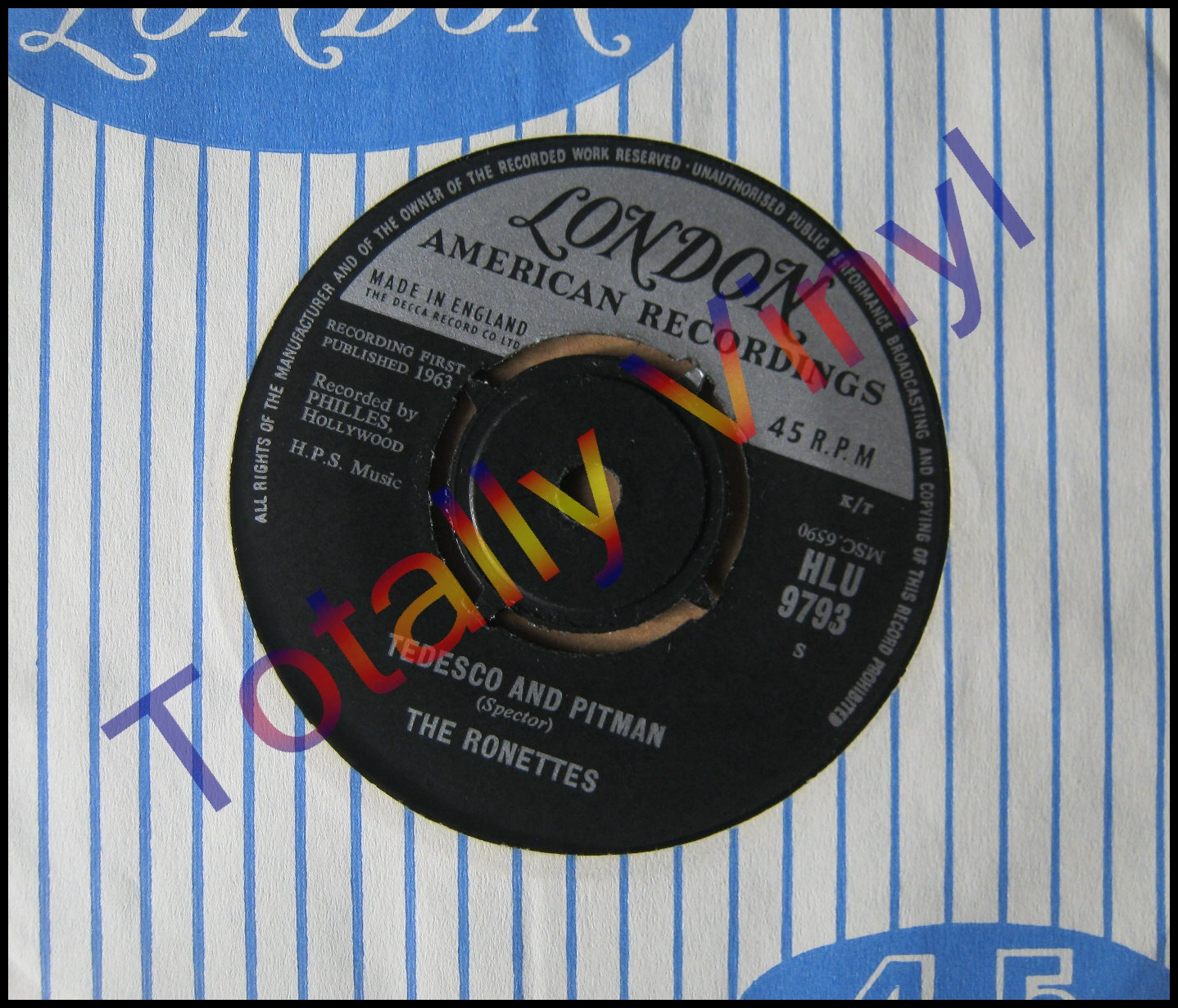 Totally Vinyl Records Ronettes The Be My Baby