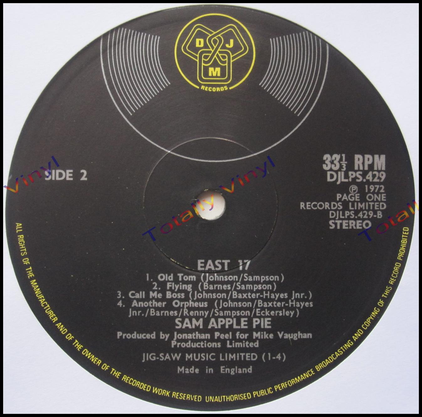 Sam Apple Pie - East 17 LP