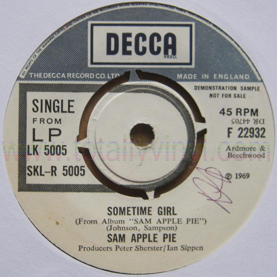 Totally Vinyl Records Sam Apple Pie Tiger Man King