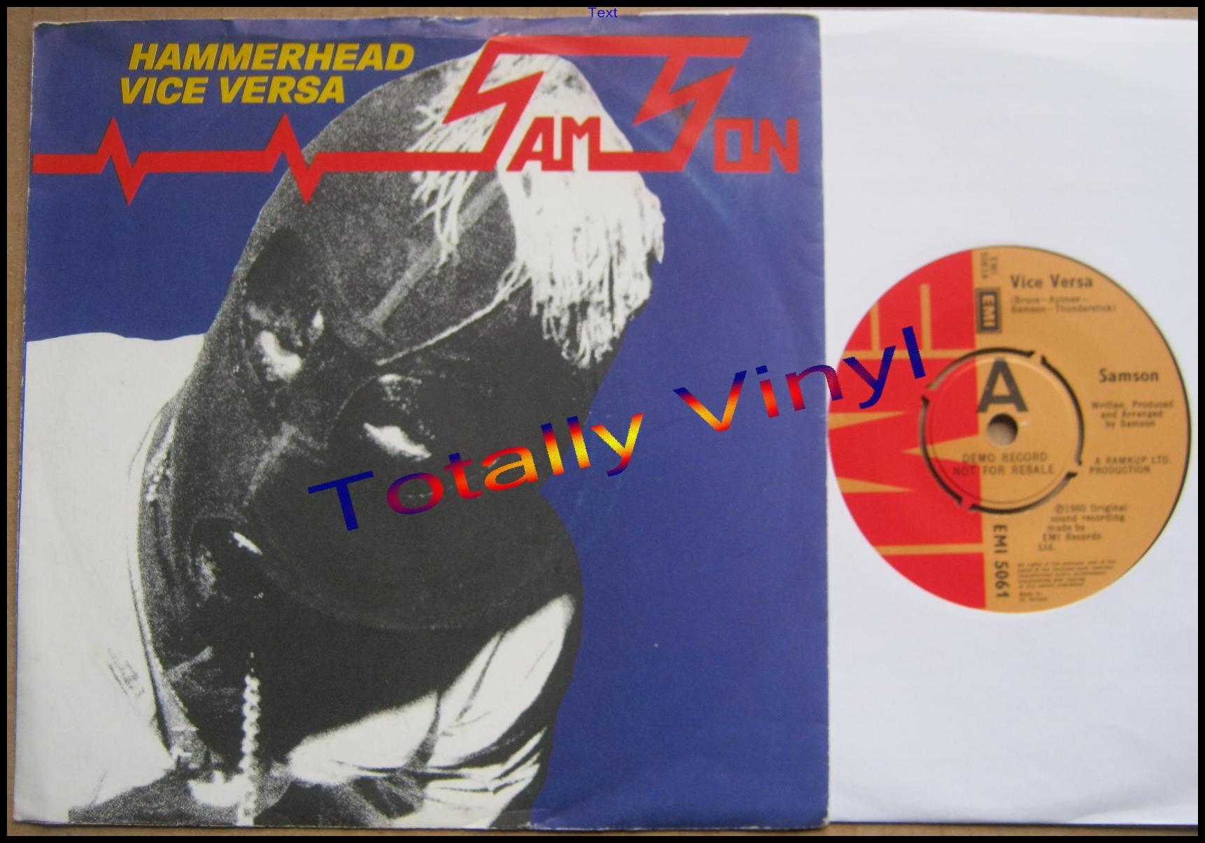Totally Vinyl Records Samson Hammerhead Vice Versa 7