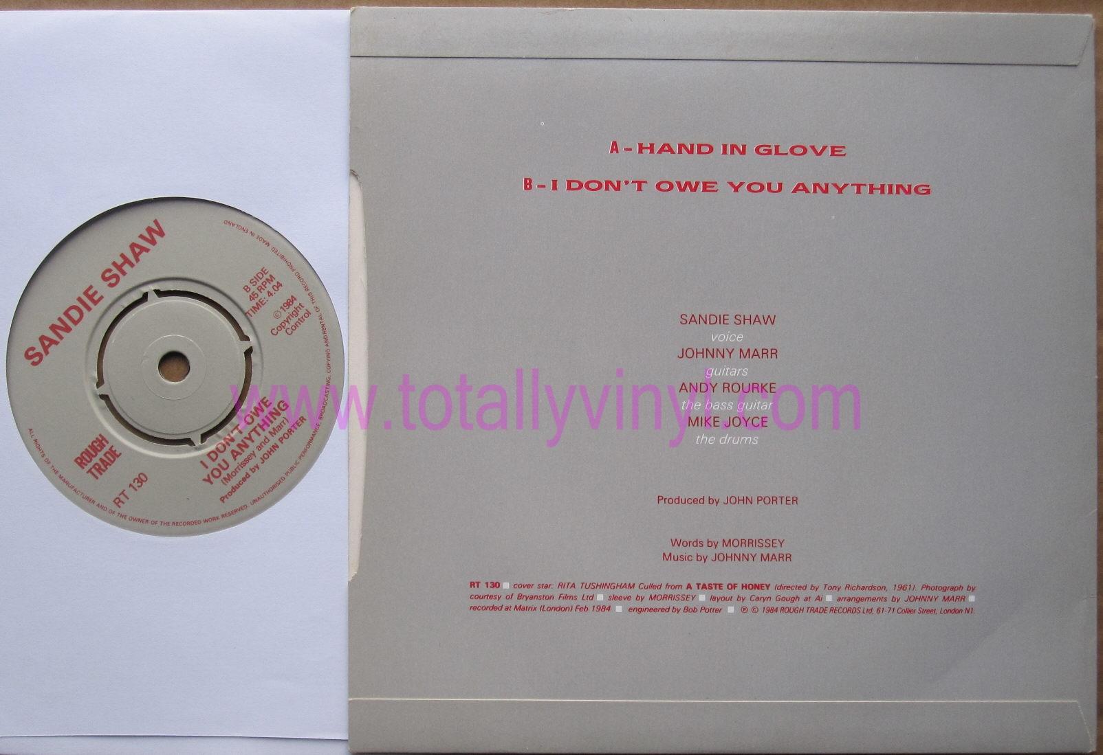 Totally Vinyl Records Shaw Sandie Hand In Glove 7