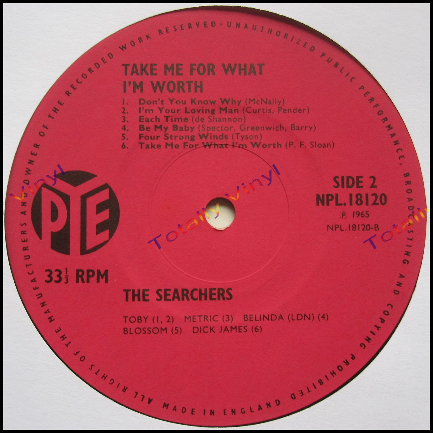totally vinyl records searchers the take me for what i 39 m worth lp. Black Bedroom Furniture Sets. Home Design Ideas