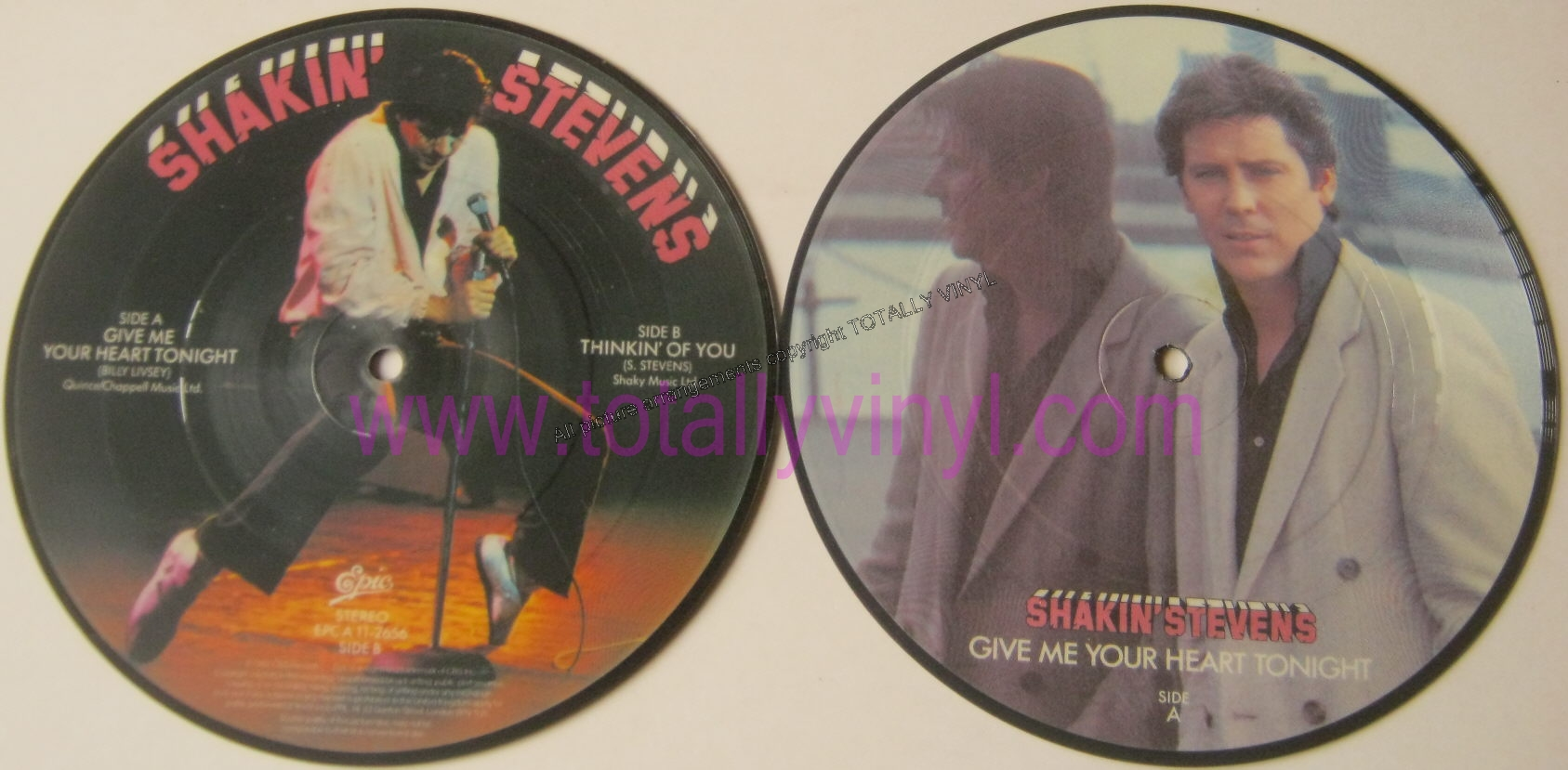 Totally Vinyl Records Stevens Shakin Give Me Your