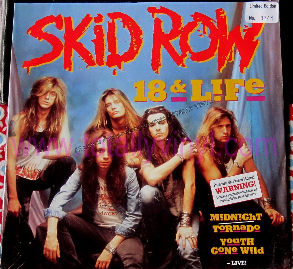 Totally Vinyl Records Skid Row 18 And Life 12 Inch