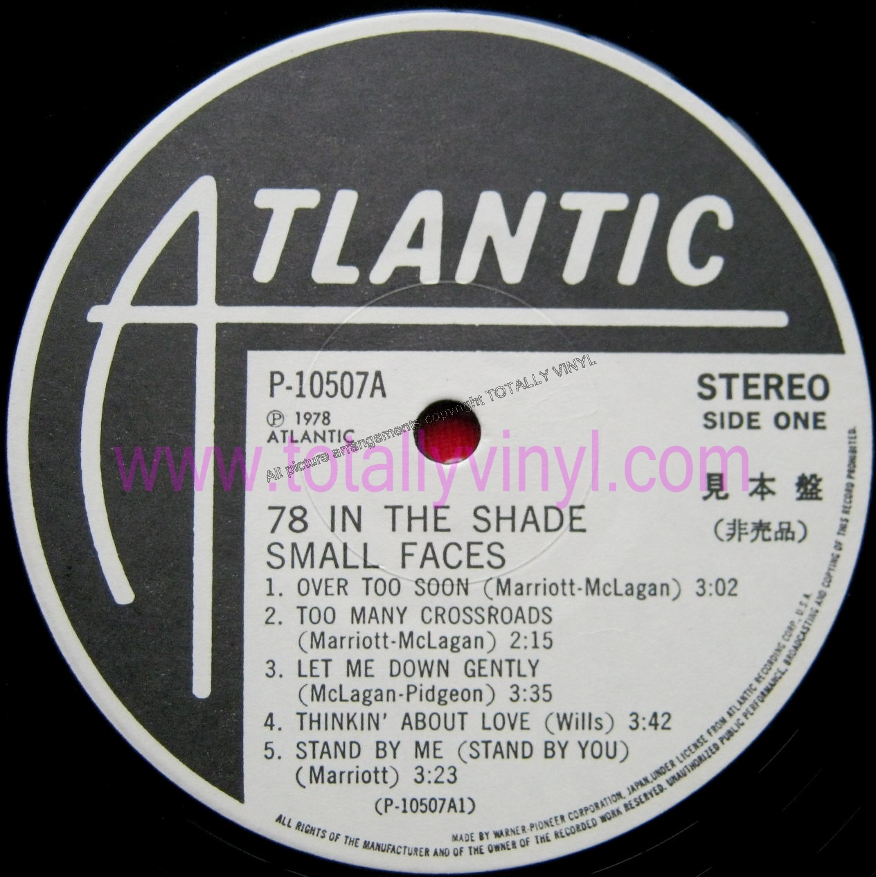 Totally Vinyl Records Small Faces 78 In The Shade Lp