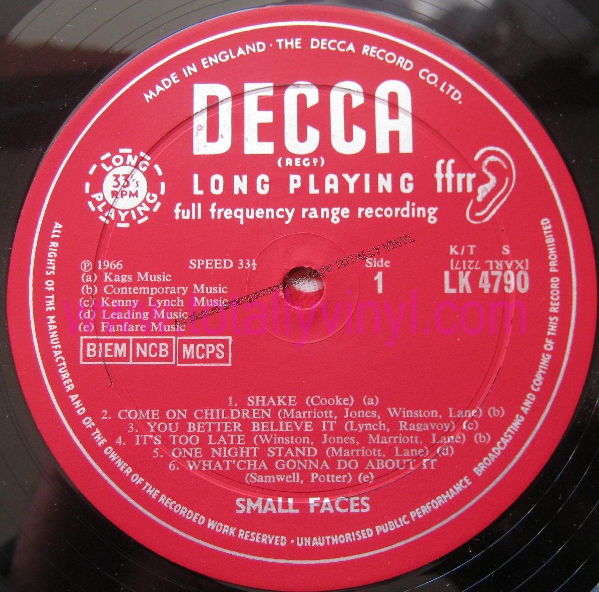 Totally Vinyl Records Small Faces Small Faces Lp
