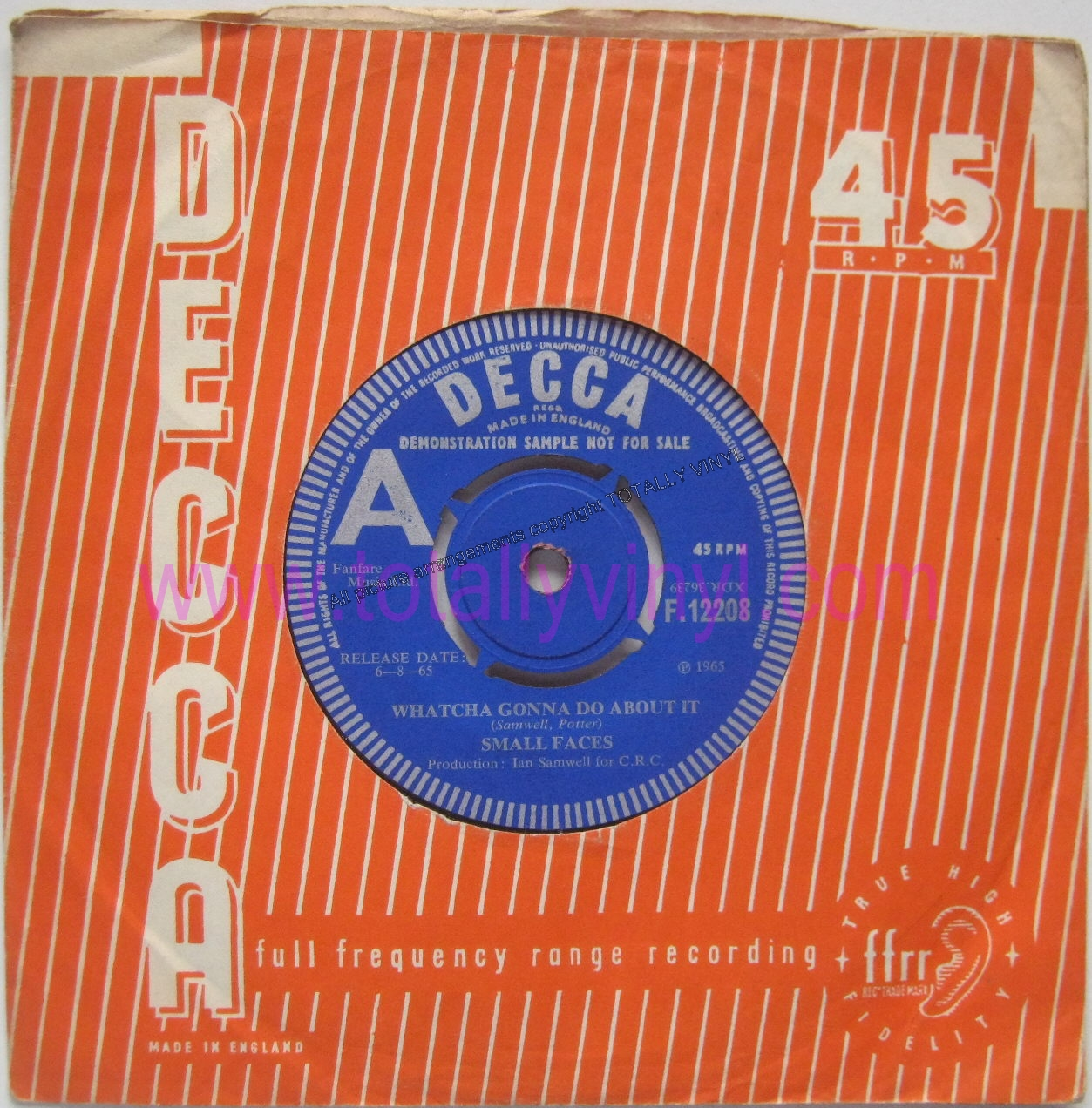Small Faces Whatcha Gonna Do About It Whats A Matter Baby