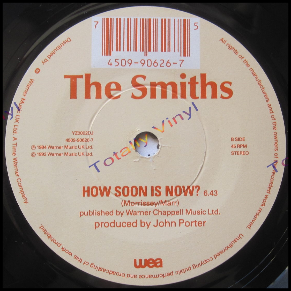 totally vinyl records smiths the how soon is now. Black Bedroom Furniture Sets. Home Design Ideas