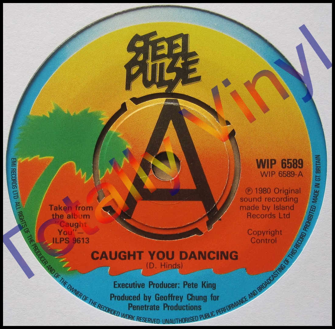 Totally Vinyl Records Steel Pulse Caught You Dancing