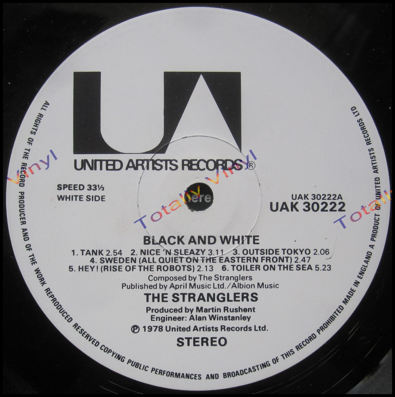 Totally Vinyl Records Stranglers The Black And White