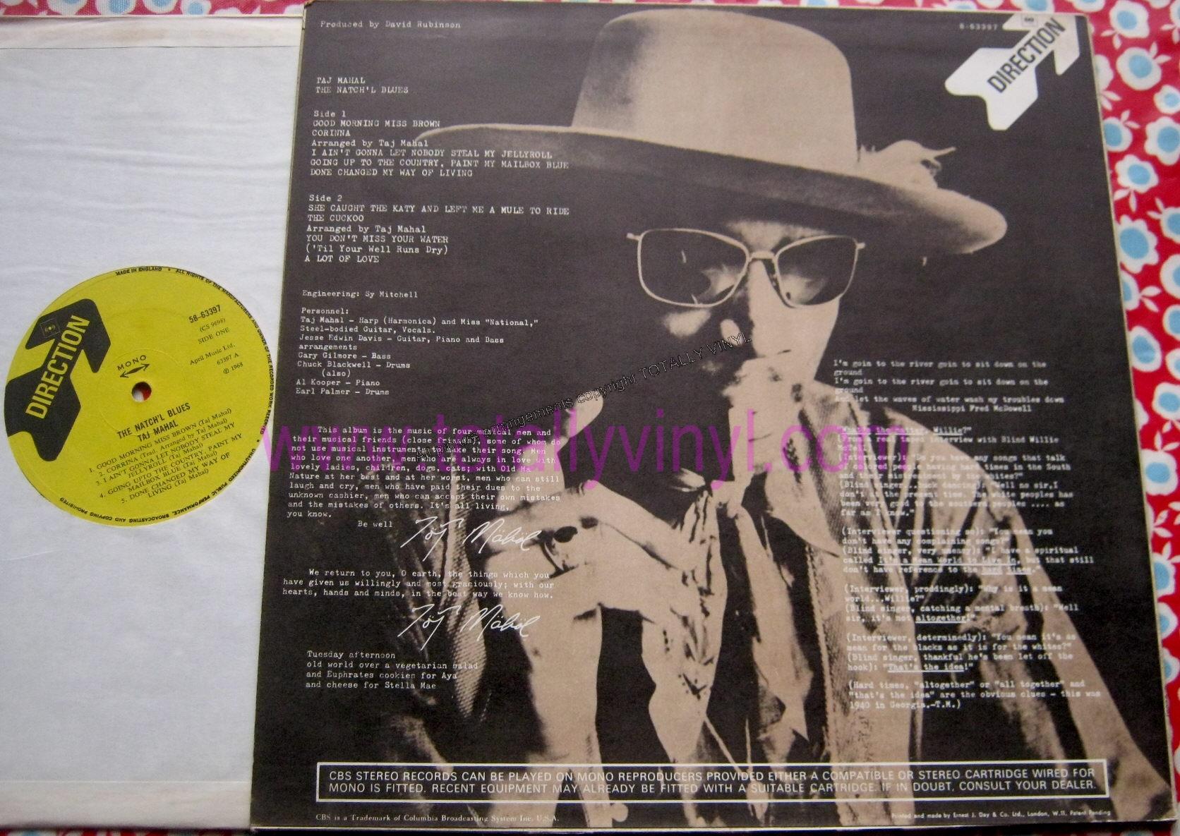 Totally Vinyl Records Taj Mahal The Natch L Blues Lp