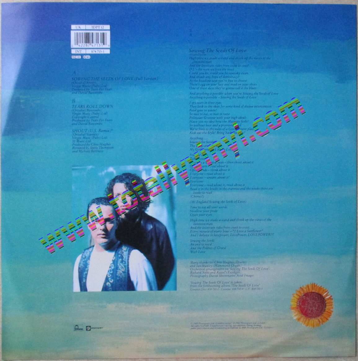 Totally Vinyl Records Tears For Fears Sowing The