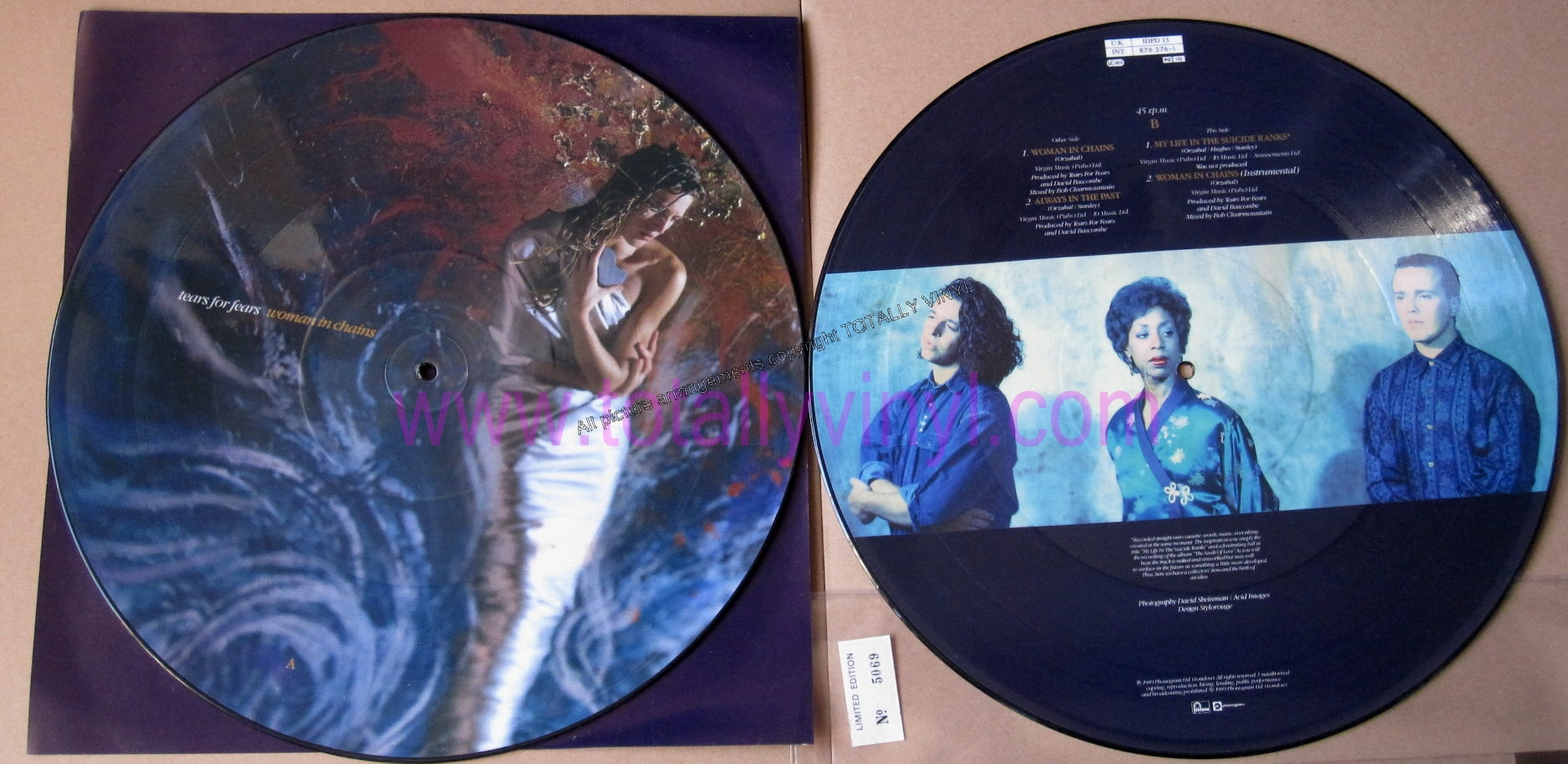 Totally Vinyl Records Tears For Fears Woman In Chains