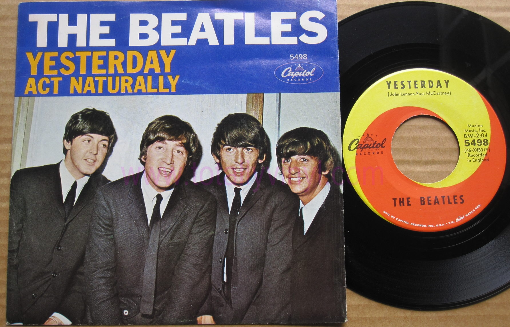 Totally Vinyl Records || Beatles, The - Yesterday 7 Inch Picture Cover