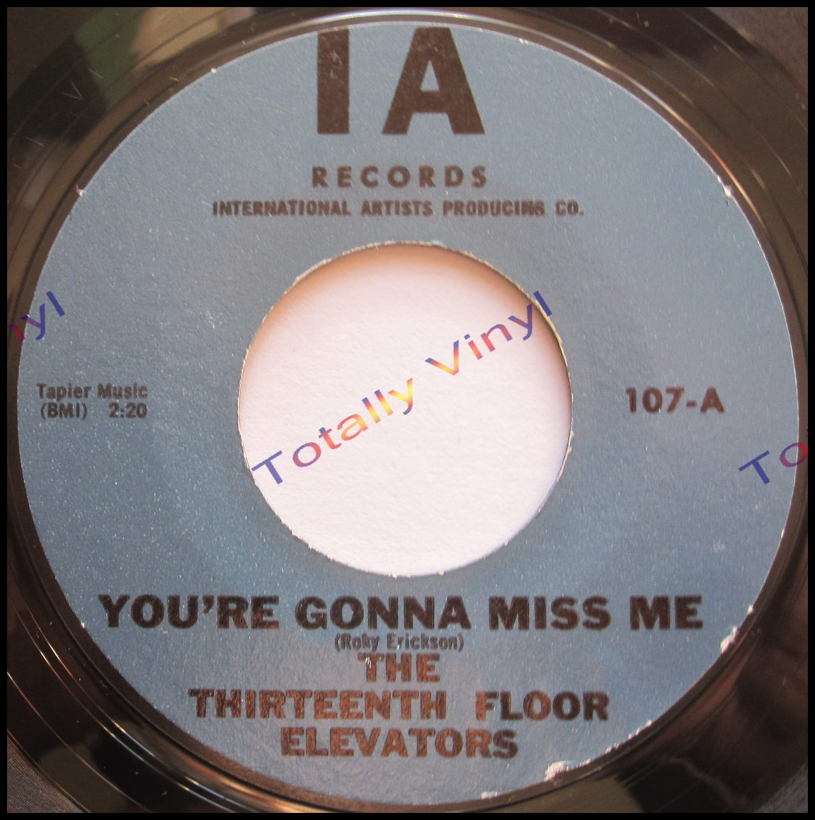 Totally vinyl records thirteenth floor elevators the for 13th floor elevators you re gonna miss me
