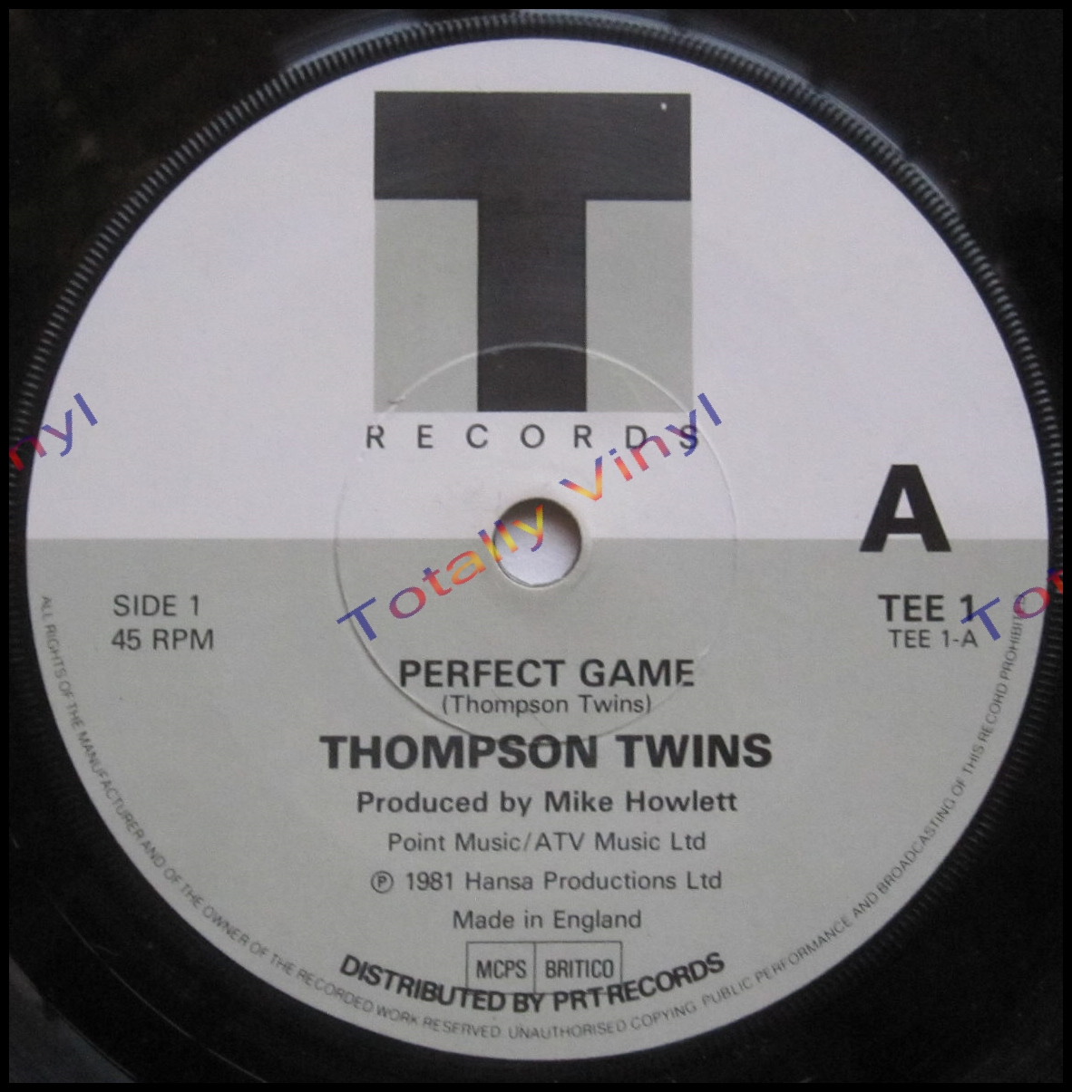 Totally Vinyl Records    Thompson Twins - Perfect game