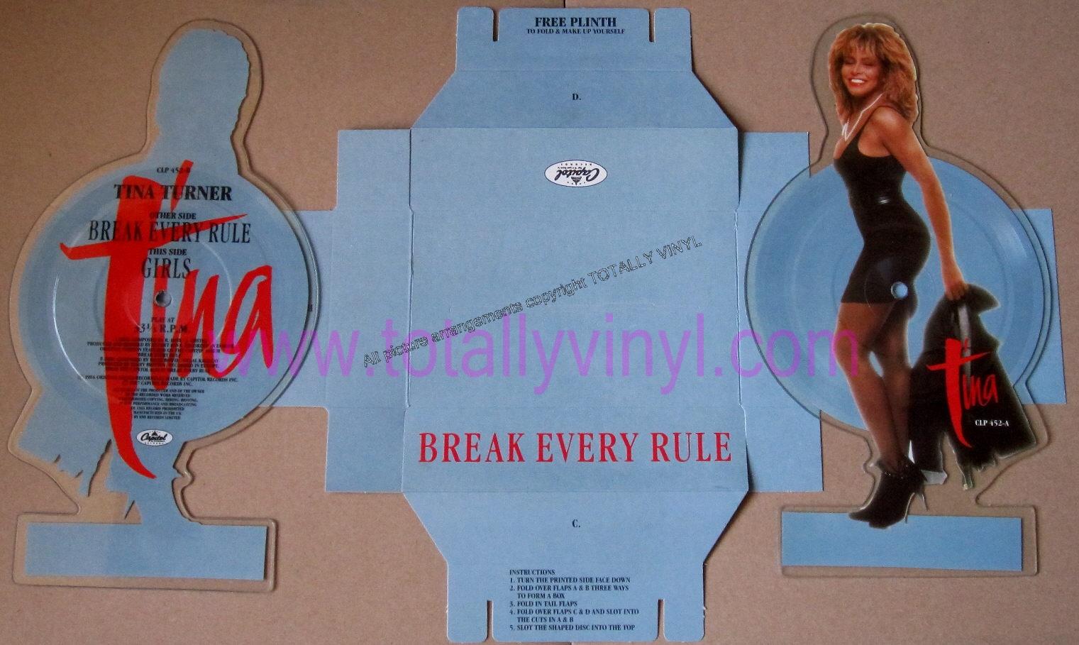 Totally Vinyl Records Turner Tina Break Every Rule 5