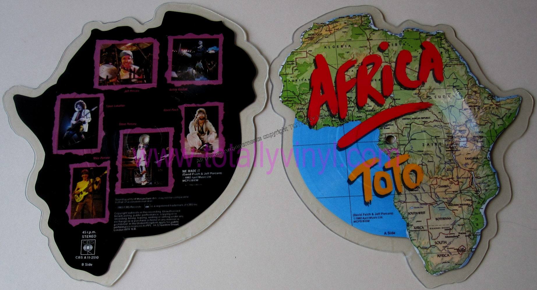 Totally Vinyl Records Toto Africa 7 Inch Picture Disc