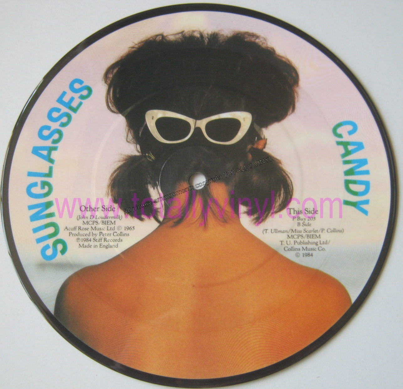 Sunglasses Tracey Ullman  totally vinyl records ullman tracey sunglasses 7 inch