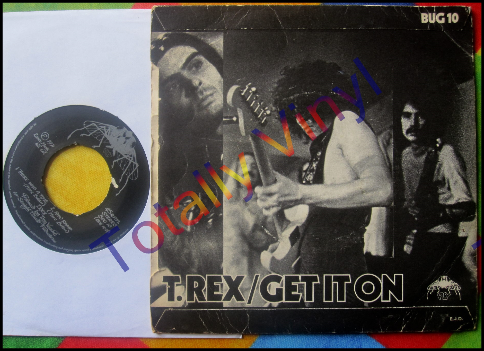Totally vinyl records t rex get it on there was a for T rex get it on