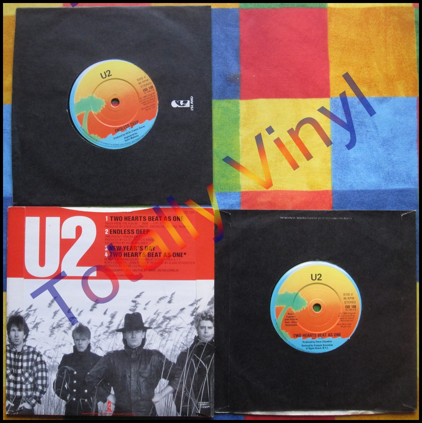 Totally Vinyl Records || U2 - Two hearts beat as one / Endless deep / New year's day ...